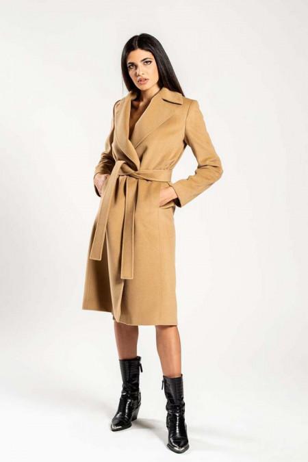 Cappotto donna decostruito in misto lana