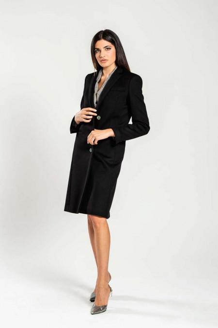 Cappotto donna in lana nero