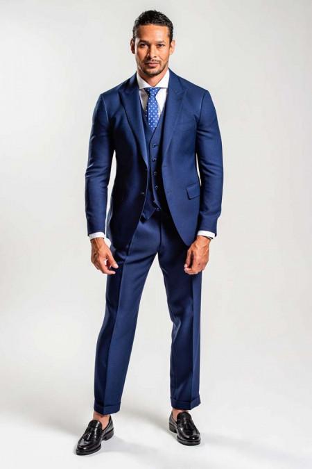 Abito uomo blu con gilet