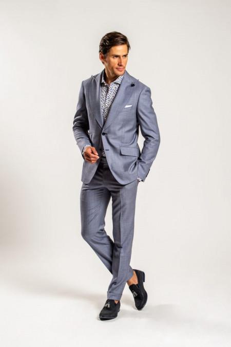 Abito uomo in 100% lana blu chiaro