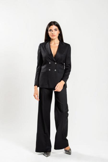 Tailleur donna in fresco lana nero